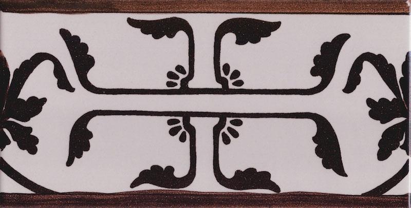 Piastrella vietri fascia listello ceramica di vietri