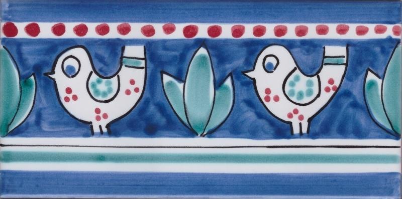 Piastrella Le Fasce Mod. Listello 42 - Ceramiche di Vietri Shop