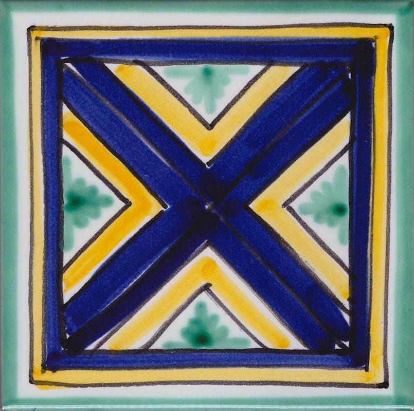I colori che distinguono la mattonella tipica della ceramica di Vietri
