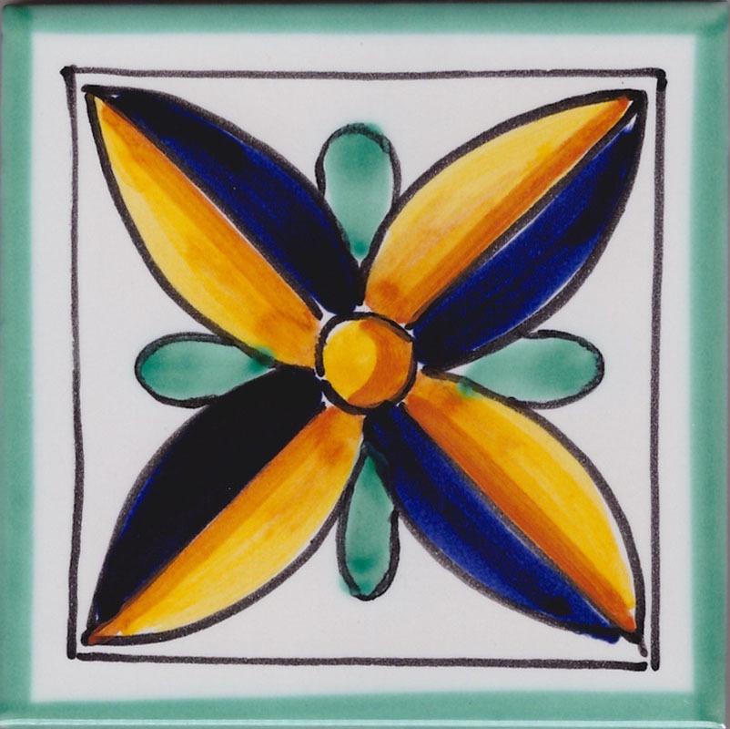 Piastrelle in Ceramica di Vietri per Cucina - Piastrella La Vietrese 42
