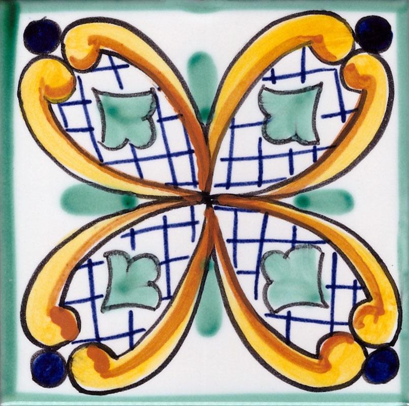Piastrelle in Ceramica di Vietri per Cucina - Piastrella Vietrese