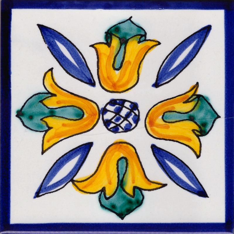 Piastrelle in Ceramica di Vietri per Cucina - Piastrella La Vietrese 61