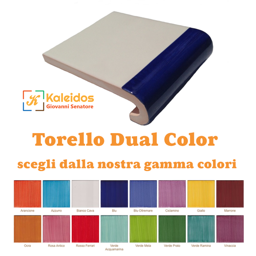 Torello Dual Color in Ceramica di Vietri 10x12 cm