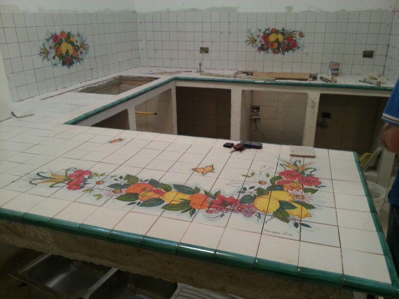 Torello monocolore in ceramica di vietri 10x12 cm - Piastrelle vietri cucina ...