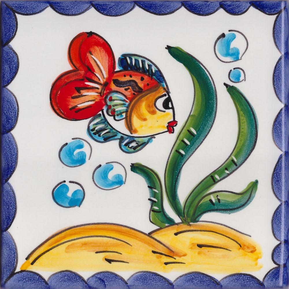 Piastrella vietrese 10x10 in ceramica di vietri - Piastrelle con disegni ...