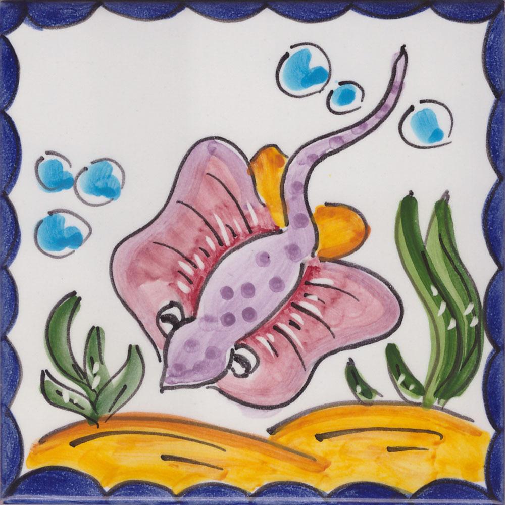 10x10 mattonella vietrese in ceramica piastrella pesce for Piastrelle cucina 15x15