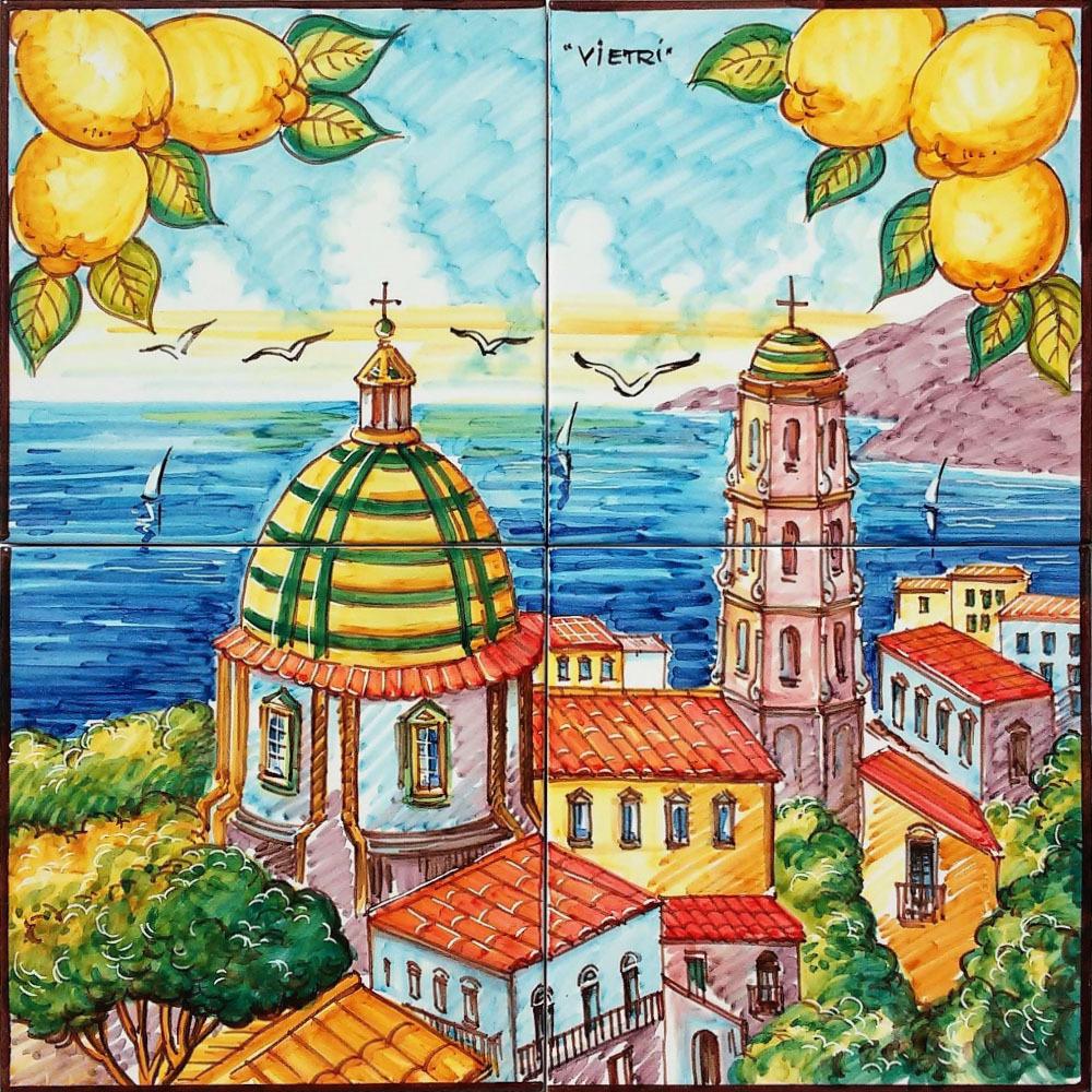 Pannello Murale Artistico Chiesa Di Vietri 40x40 Cm Per