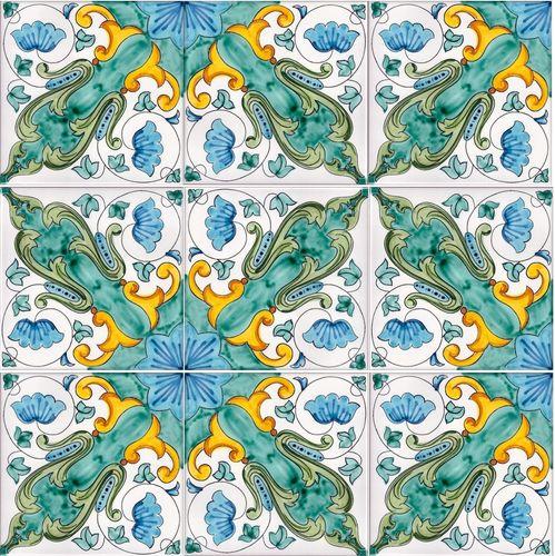 Ceramiche di vietri pavimenti mosaico piastrelle pavimento - Piastrelle tipo mosaico ...
