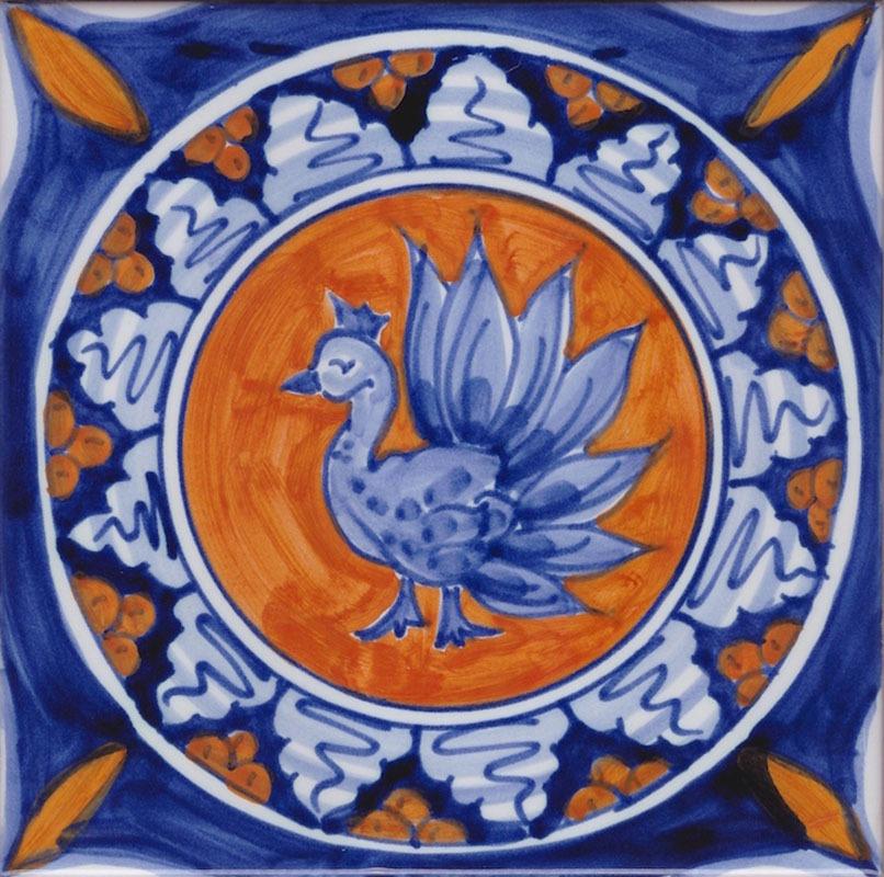 Piastrelle Di Ceramica Decorate.10x10 Piastrella Vietrese Antica Mod R11 Ceramiche Di Vietri