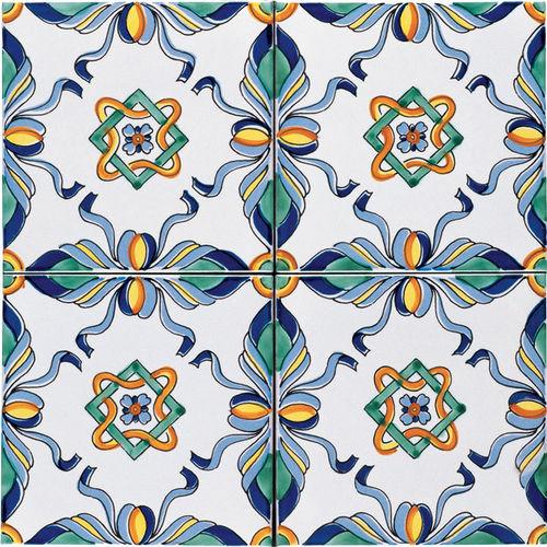 Piastrelle Di Ceramica Decorate.Ceramiche Di Vietri Mattonelle Decorate Pavimento Bagno 20x20