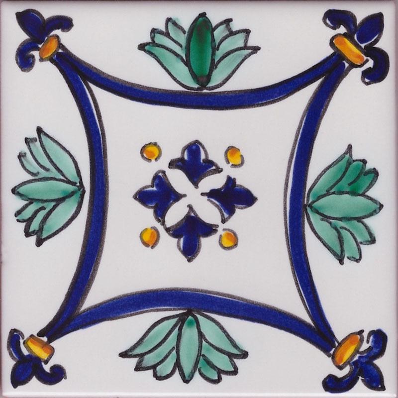 Mattonelle decorate per pavimenti - Piastrella Artistica Vietrese