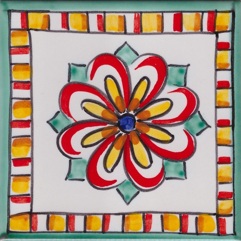 Piastrelle 10x10 Colorate.Piastrelle In Ceramica Per Cucina Piastrella La Vietrese 08