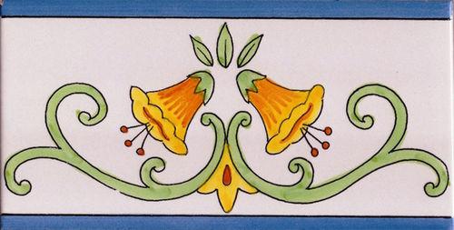 Piastrelle ceramiche vietri listello vietrese fascia 10x20