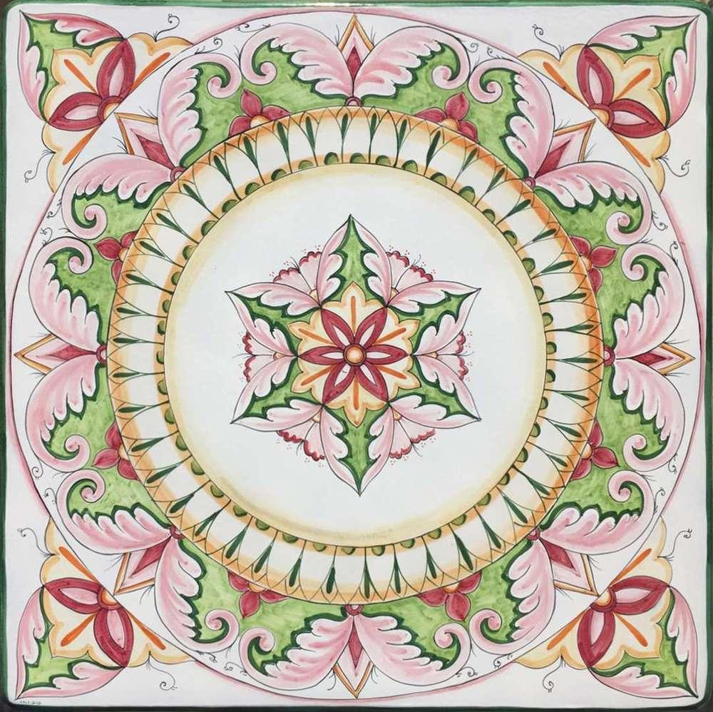 Tavoli Da Giardino Ceramica Caltagirone.Tavolo Decoro Ceramiche Caltagirone Ceramica Di Vietri
