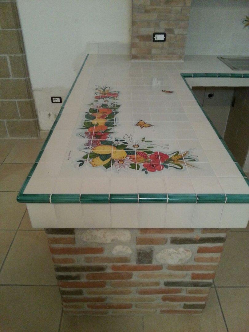 Bagni In Ceramica Di Vietri.Torello Dual Color Ceramica Di Vietri 10x12 Cm Cucina Di Vietri