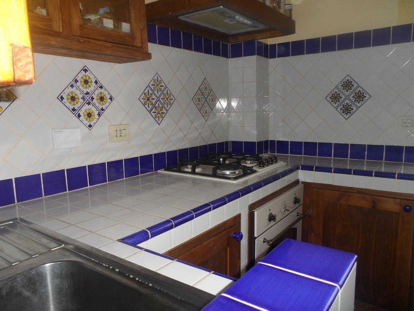 Torello dual color ceramica di vietri 10x12 cm cucina di vietri