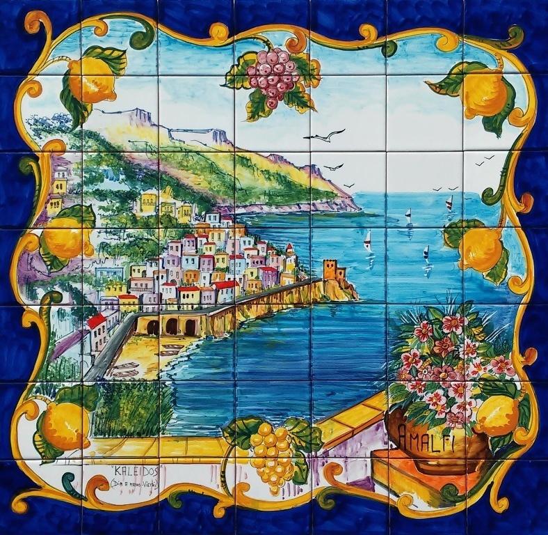 Quadro Amalfi Pannello Mosaico Di Piastrelle Ceramiche