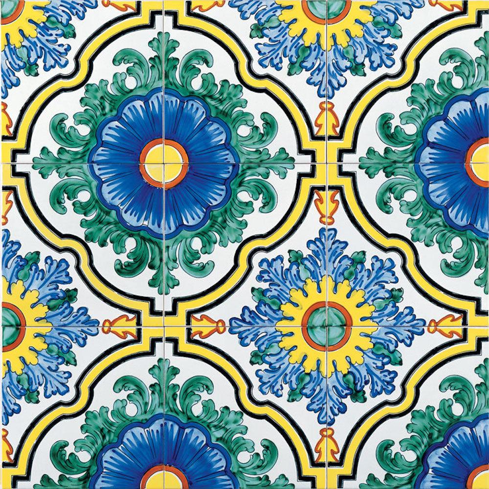 Ceramica vietrese per pavimenti lavorazione artigianale di riggiole - Calcolo mq piastrelle ...