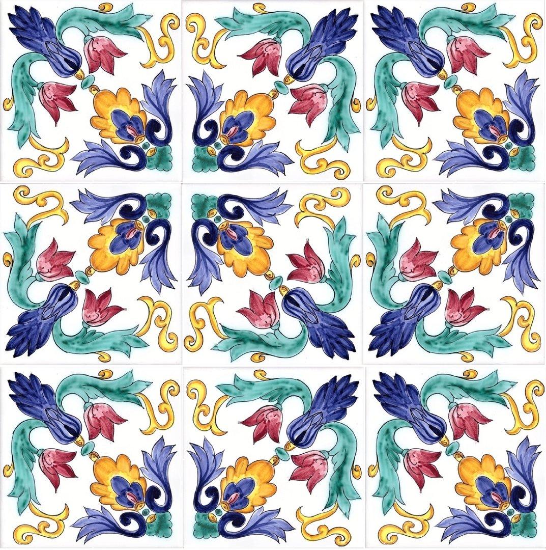 Piastrelle Decorative Per Tavoli 1 mq piastrelle ceramica bagno vietrese per pavimenti mosaico 17