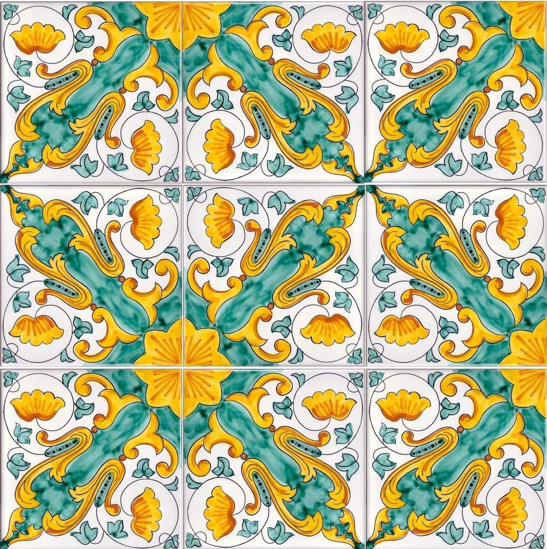 Piastrelle Decorative Per Tavoli 1 mq piastrelle ceramica vietrese per pavimenti mosaico 19
