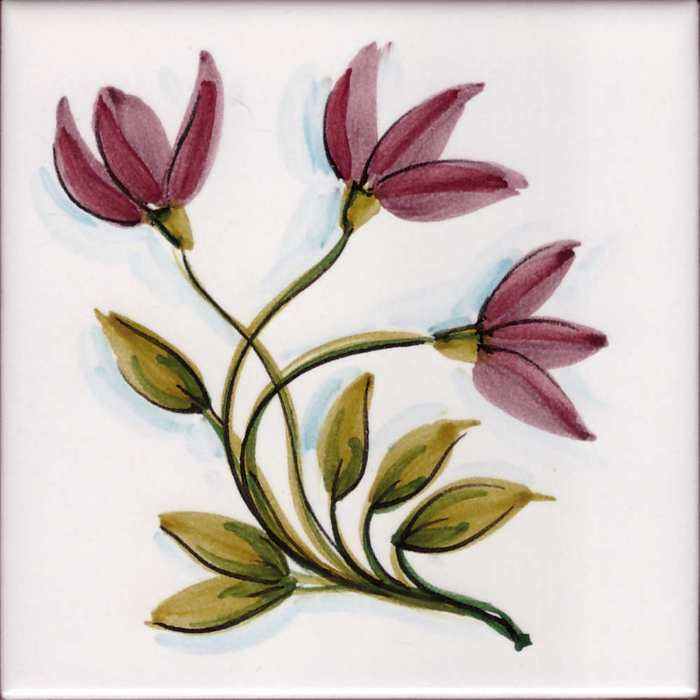 Piastrelle Cucina Con Fiori mattonella cucina fiori di vietri 05 da 10x10 cm