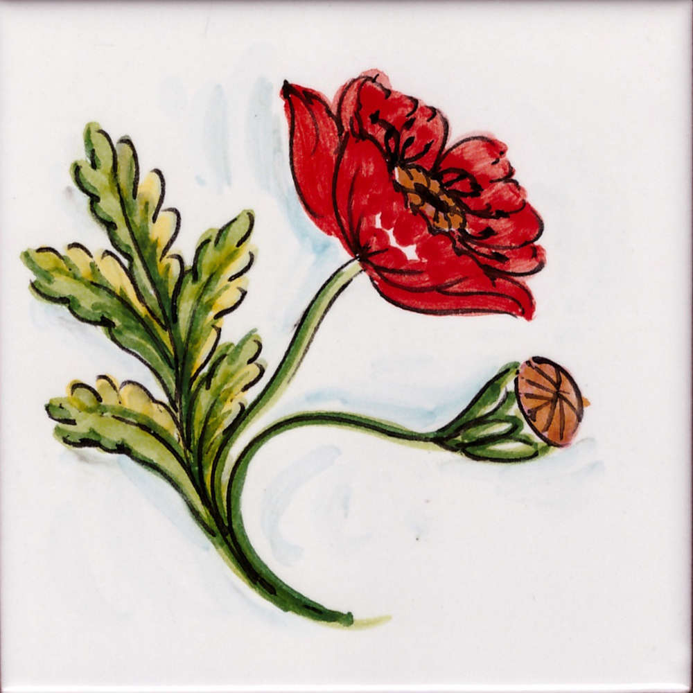 Piastrelle Cucina Con Fiori mattonella cucina fiori di vietri 08 da 10x10 cm
