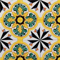 Pavimento in ceramica mattonelle bagno 15x15 decorate a mano - Mattonelle in ceramica decorate ...