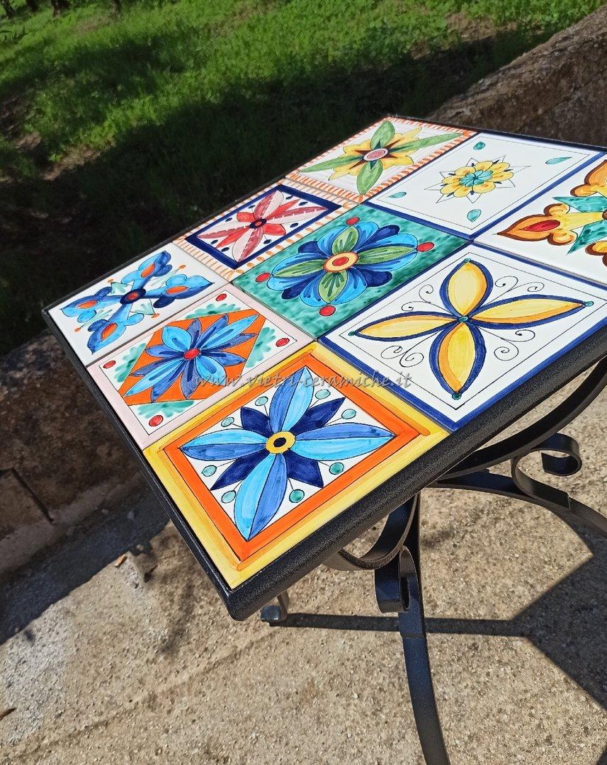 Tavolo da Giardino Piastrellato Vietri Patchwork con base ...