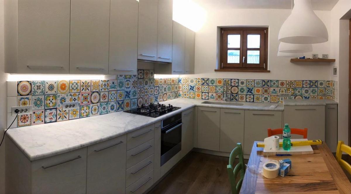 Arredare casa e giardino con il patchwork ceramiche di vietri